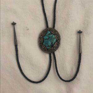 Cowboy chain 925-th test with a stone Navajo